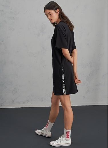 Pi π Fermuar Detaylı Elbise Siyah